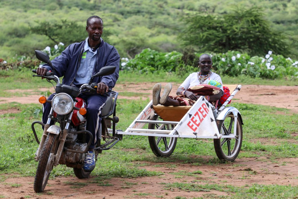 Eezer's motorcycle ambulance